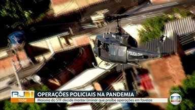 Maioria do STF decide manter liminar que suspende operações em favelas durante pandemia - A maioria dos ministros do Supremo Tribunal Federal votou pela manutenção da liminar do ministro Luiz Edson Fachin, que suspendeu operações policiais em comunidades do Rio durante a pandemia.