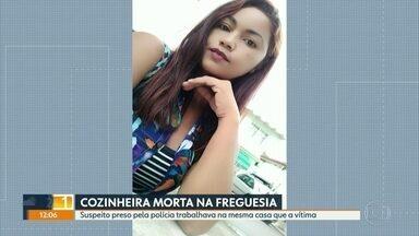 Suspeito de matar empregada doméstica na Freguesia é preso - A polícia prendeu o suspeito de ter matado a empregada doméstica Gilmara da Silva, de 45 anos. Ele trabalhava na mesma casa que a vítima.