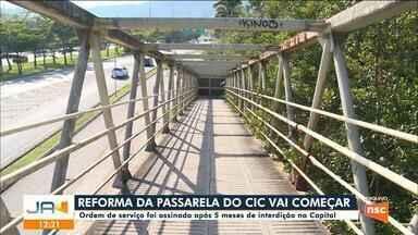 Reforma da passarela do CIC começa em Florianópolis - Reforma da passarela do CIC começa em Florianópolis