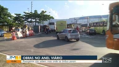 Obras no Anel Viário, em São Luís, causam transtornos no trânsito - Motoristas e passageiros do transporte coletivo reclamam da situação que têm que enfrentar todos os dias.