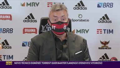 Novo técnico do Fla, Domènec Torrent quer manter o time ofensivo - Novo técnico do Fla, Domènec Torrent quer manter o time ofensivo
