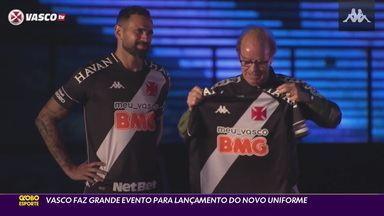 Convidados multicampeões marcam presença em lançamento do novo uniforme do Vasco - Convidados multicampeões marcam presença em lançamento do novo uniforme do Vasco