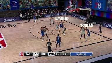Com menos de dez segundos para o fim, Phiadelphia 76ers vira o jogo contra o San Antonio Spurs - Com menos de dez segundos para o fim, Phiadelphia 76ers vira o jogo contra o San Antonio Spurs