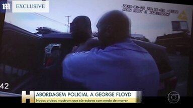 Veja como foi a abordagem dos policiais a George Floyd - Novas imagens mostram que George Floyd obedeceu os policiais e teve medo de morrer.