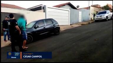 Operação prende em Araxá integrantes de organização ligada a furtos em joalherias - Casal foi detido na cidade durante Operação Midas, realizadas entre as Polícias Civil de Minas Gerais e São Paulo.