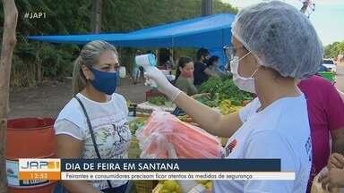 Feiras retornam em Santana e comerciantes e clientes se atentam para medidas de segurança - Segunda maior cidade do Amapá aumentou fiscalização nos espaços para evitar aumento de casos de Covid-19.