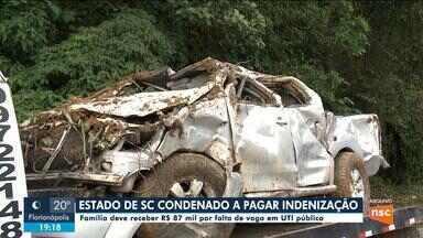 Estado de SC é condenado a pagar indenização a família de mulher morta em acidente - Estado de SC é condenado a pagar indenização a família de mulher morta em acidente