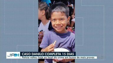 Polícia volta ao local onde Danilo Sousa foi morto, em Goiânia - Nesta terça-feira, completa 15 dias desde que o menino desapareceu.
