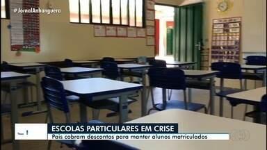 Pais pedem descontos em escolas particulares para manterem filhos matriculados em Goiás - No entanto, muitas unidades reclamam da crise provocada pela pandemia.