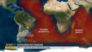 Paraná enfrenta longo período de estiagem - Mês de julho teve chuva abaixo da média.