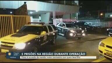 Polícia cumpre mandados de prisão na região de Campinas contra suspeitos de homicídio - Segundo a investigação, envolvidos também atuam nos crimes de tráfico de drogas e estelionato. Em outubro de 2019, mulher foi assassinada a tiros na frente da filha no Grande Recife.