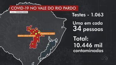 Pesquisa aponta que 1 a cada 34 pessoas se infectou com coronavírus no Vale do Rio Pardo - Estudo mostra que 14 municípios tiveram mais de 10 mil contaminados com a doença.