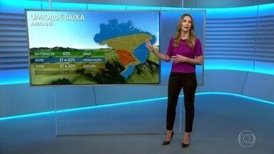 Escassez de chuva é comum para esta época do ano - Confira a previsão do tempo do Jornal Nacional desta quinta (06).