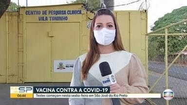 A Covid-19 no interior - Em Rio Preto começam os testes com a Coronavac e Ribeirão Preto flexibiliza as regras da quarentena.