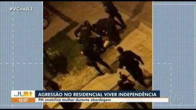 Vídeo mostra PM aplicando 'mata-leão' em mulher durante ação policial - Vídeo mostra PM aplicando 'mata-leão' em mulher durante ação policial