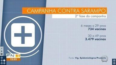 Vigilância Epidemiológica Municipal divulga balanço parcial da vacinação contra o sarampo - Confira os números da primeira etapa em Presidente Prudente.