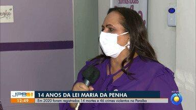 Em 2020 foram registradas 14 mortes e 46 crimes violentos contra a mulher na Paraíba - Neste 7 de agosto, a Lei Maria da Penha completa 14 anos.