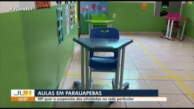 MP pede suspensão das aulas na rede particular de Parauapebas - MP pede suspensão das aulas na rede particular de Parauapebas