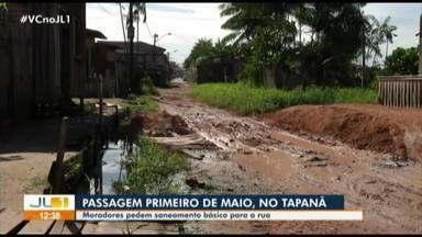 Moradores do Tapanã reclamam da falta de asfalto na passagem Primeiro de Maio - Moradores do Tapanã reclamam da falta de asfalto na passagem Primeiro de Maio