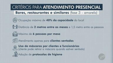 Covid-19: retomada 'brusca' mantém fechada parte de bares e restaurantes em Campinas - Sindicato da categoria afirma que há estabelecimentos com grupos de funcionários afastados e nem todos conseguiram se adequar aos protocolos de prevenção estabelecidos pela prefeitura.