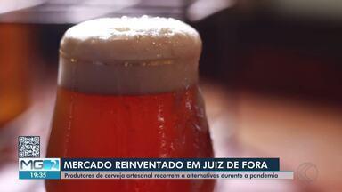 Empreendedores do ramo cervejeiro adotam alternativas para superar crise em Juiz de Fora - No Dia da Cerveja, veja o que donos de bares e outros estabelecimentos têm feito para manter produção e vendas em meio à pandemia do novo coronavírus.