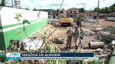 Polícia ouve testemunhas de desabamento de reservatório de água em Almeirim - Acidente matou duas pessoas, pai e filha que trabalhavam na obra que estava em fase de testes.