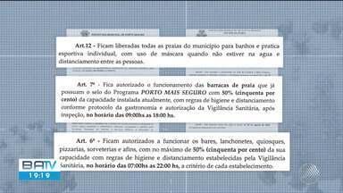 Porto Seguro autoriza banho e prática esportiva com máscara nas praias do municípios - Confira.