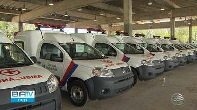 Bahia recebe 74 novas ambulâncias do governo do estado nesta sexta - Os veículos vão auxiliar no tratamento da Covid-19 em todo estado.