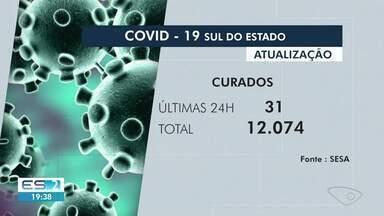 Sul do ES tem mais cinco mortes por Covid-19, no ES - Ao todo, foram 399 óbitos pela doença na região.