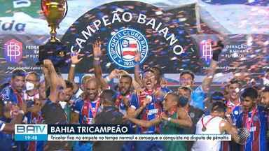 Bahia vence o Atlético-BA nos pênaltis e se torna campeão baiano neste sábado - Jogo aconteceu sem torcida, por causa da pandemia do novo coronavírus.