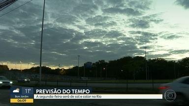 Segunda-feira será de sol e calor no Rio - Tempo deve continuar firme pelo menos até sábado