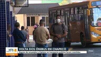 Regras de ocupação e higiene no transporte público foram mantidas em Chapecó - Regras de ocupação e higiene no transporte público foram mantidas em Chapecó