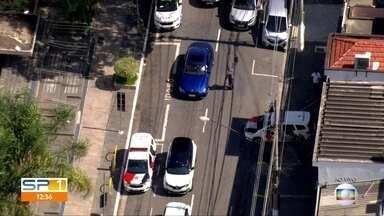 Vítima é baleada em 'saidinha' de banco na Zona Leste de SP - Crime foi na Rua Serra de Bragança, no Tatuapé.