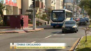 Transporte coletivo é retomado na Grande Florianópolis nesta segunda-feira - O retorno foi autorizado pelo governo estadual após a região entrar na situação grave no mapa de risco do coronavírus. Veja como fica transporte na região.