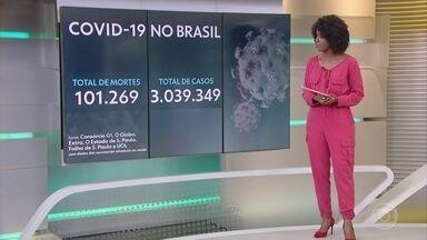 Brasil chega a 101.269 mortes por Covid e 3.039.349 casos confirmados - Média de óbitos na última semana foi de 1.001, aponta consórcio de veículos da imprensa.