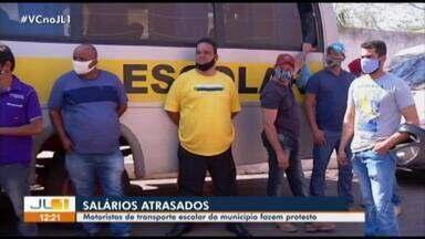 Motoristas de transporte escolar protestam em Marabá, sudeste do Pará - Motoristas de transporte escolar protestam em Marabá, sudeste do Pará