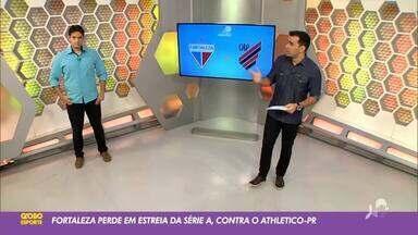 Tom Alexandrino comenta derrota do Fortaleza em estreia no Brasileirão 2020 - Saiba mais no ge.globo/ce