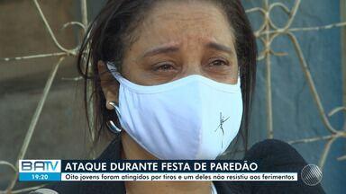 Homem morre e sete pessoas ficam feridas após serem baleadas em confusão durante festa - Crime ocorreu no bairro de São Caetano, na madrugada desta segunda-feira (10). Familiares de uma das vítimas falam sobre o caso.