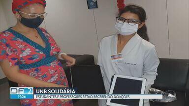 Professores e alunos da UNB recolhem doações para pacientes hospitalizados - A campanha está arrecadando celulares e tablets para facilitar a comunicação entre os pacientes da rede pública e as suas famílias.