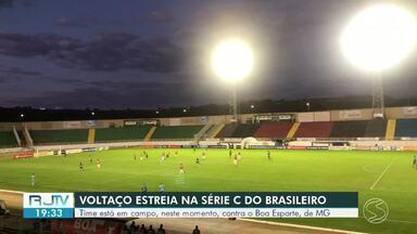 Voltaço estreia na Série C do Brasileirão nesta segunda-feira, contra o Boa Esporte-MG - Jogo foi no Estádio Municipal de Varginha, sem torcida.