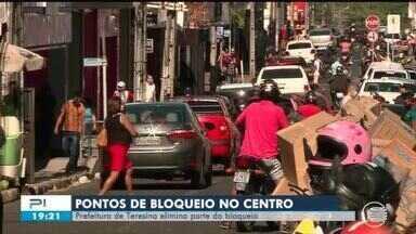 Prefeitura reduz interdição de ruas no Centro e movimentação é intensa - Strans reduz interdição de ruas no Centro e movimentação é intensa