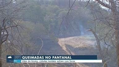 Além do Pantanal, cidades também sofrem com focos de queimadas - Além do Pantanal, cidades também sofrem com focos de queimadas