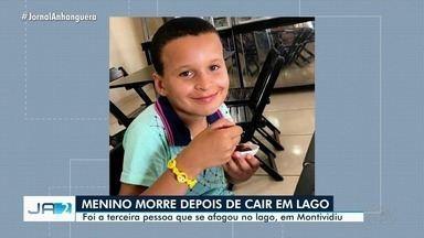 Menino que morreu afogado em lago de Montividiu foi enterrado - Três pessoas já morreram no mesmo lago.