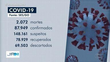 Goiás ultrapassa 2 mil mortes por covid-19 - Já são mais de 87 mil casos confirmados até o momento.