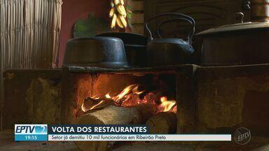 Após 4 meses fechados, restaurantes reabrem as portas em Ribeirão Preto - Estabelecimentos podem funcionar das 11h às 17h com 40% da capacidade de atendimento.