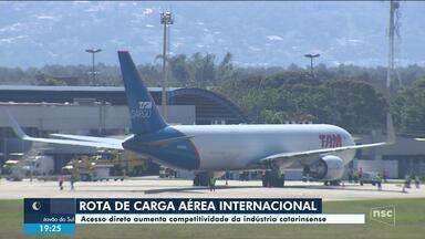 Aeroporto de Florianópolis passa a ter rota de carga aérea internacional - Aeroporto de Florianópolis passa a ter rota de carga aérea internacional