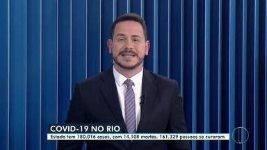 Confira o boletim diário da Covid-19 no estado do Rio desta segunda-feira, 10/08/2020 - Estado tem 180.016 casos confirmados do novo coronavírus, com 14.108 mortes; 161.329 pessoas se recuperaram da doença.