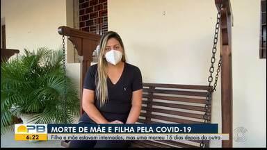 Mãe e filha morrem por Covid-19 em intervalo de 16 dias, em Guarabira - Família lamenta perda