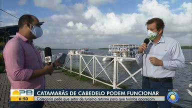 Catamarãs podem funcionar e setor turístico espera que turistas apareçam, em Cabeledo - Setor voltou a funcionar