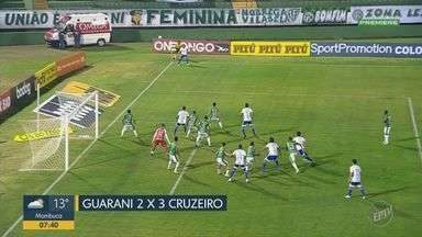 Cruzeiro vence e impõe segunda derrota ao Guarani na Série B - Com seis pontos somados nas duas primeiras rodadas, Raposa 'recuperou' pontuação perdida com punição da FIFA; já o Bugre segue sem pontuar.